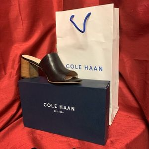 Cole Haan Daina Black Leather Mule Size 10B
